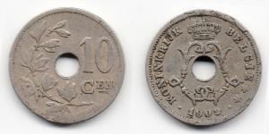 10 сантимов 1902 года