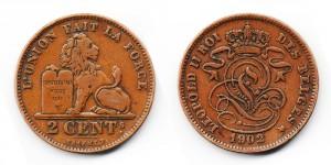 2 сантима 1902 года