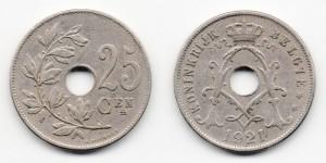 25 сантимов 1921 года