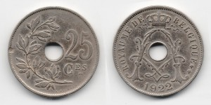 25 сантимов 1922 года