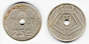 25 сантимов 1939 года