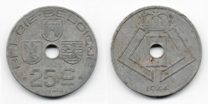25 сантимов 1944 года
