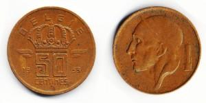 50 сантимов 1953 года