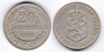20 stotinki 1888