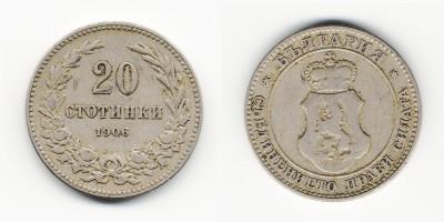 20 stotinki 1906