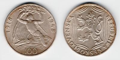 100 крон 1948 года