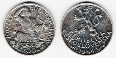 100 крон 1949 года