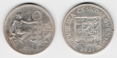 10 korun 1931