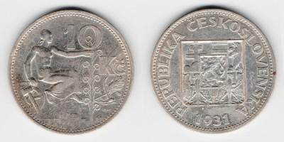 10 крон 1931 года