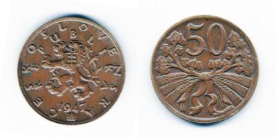 50 геллеров 1947 года