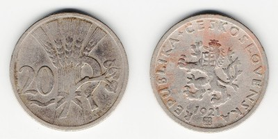 20 hellers 1921