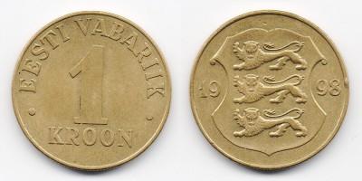 1 крона 1998 года