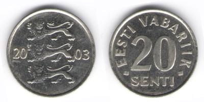 20 сентов 2003 года