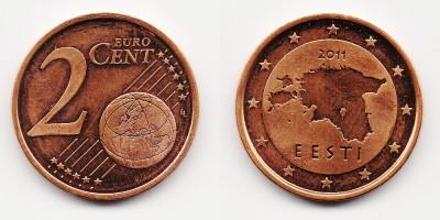 2 евроцента 2011 года