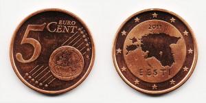 5 евроцентов 2011 года