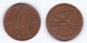 10 пенни 1924 года