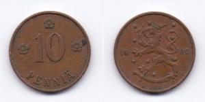 10 пенни 1928 года