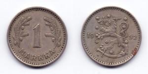 1 марка (markka) 1932 года