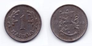 1 марка (markka) 1945 года