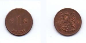 1 пенни 1919 года