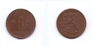 1 пенни 1924 года