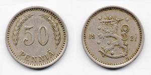 50 пенни 1921 года