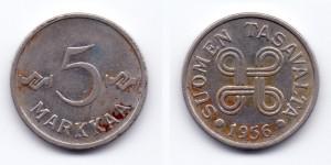 5 марок 1956 года