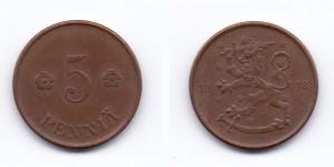 5 пенни 1918 года