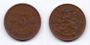 5 пенни 1919 года