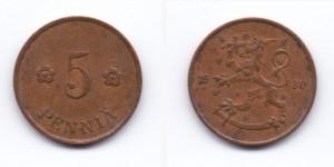 5 пенни 1930 года