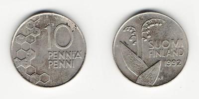 10 penniä 1992