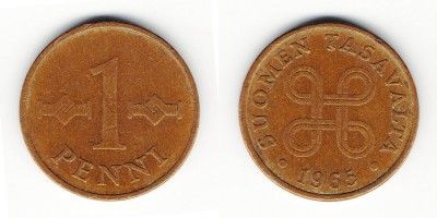 1 penni 1965