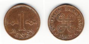 1 пенни 1967 года