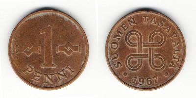 1 penni 1967