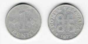 1 пенни 1972 года
