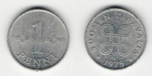 1 пенни 1975 года
