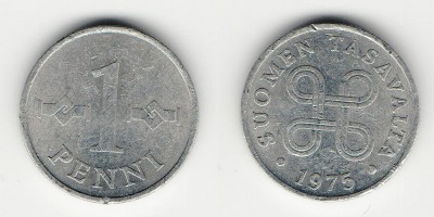 1 penni 1975