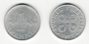 1 пенни 1977 года