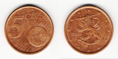 5 euro cent 2001