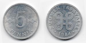 5 пенни 1984 года