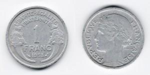 1 франк 1958 года