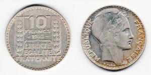 10 франков 1932 года