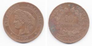 10 сантимов 1897 года