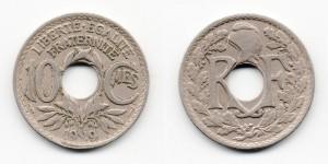 10 сантимов 1919 года