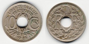 10 сантимов 1923 года