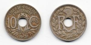 10 сантимов 1931 года