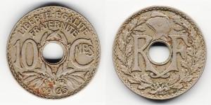 10 сантимов 1935 года
