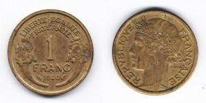 1 франк 1940 года