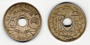 25 сантимов 1920 года