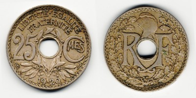 25 centimes 1920